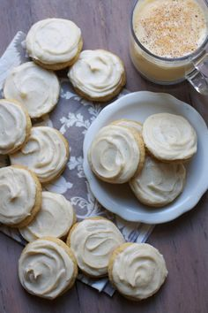 Soft Frosted Egg Nog Cookies ~ perfect little holiday cookie!