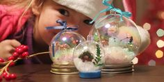 Waterless Snowglobes- boy do we need these my litle one jsut dropped a plastic and water on on the floor-major flood. Snow globe in spring /??- yes it was way under the bed.....