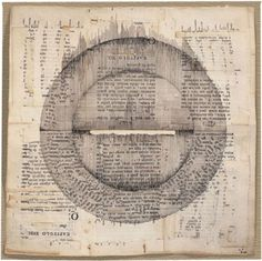 Lenore Tawney, Round and Square, collage, 1966,