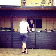 Pop up bar on London Fields rooftop