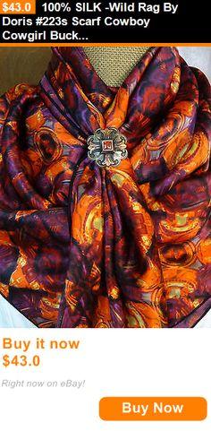 Western Show Accessories 160042: 100% Silk -Wild Rag By Doris #223S Scarf Cowboy Cowgirl Buckaroo Xl Horse Tack BUY IT NOW ONLY: $43.0