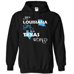 (LAXanh001) Just A Louisana Girl In A Texas World - #team shirt #tshirt refashion. HURRY => https://www.sunfrog.com/Valentines/-28LAXanh001-29-Just-A-Louisana-Girl-In-A-Texas-World-Black-Hoodie.html?68278