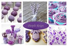 Purple Baby Shower Themes | ... ideas from our Fit for a… theme board with our Purple Reign theme