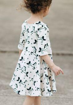 Handmade Organic Cotton Unicorn Dress | GreyandLion on Etsy
