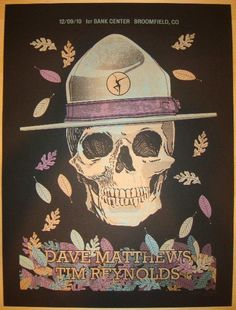 """Dave Matthews and Tim Reynolds - silkscreen concert poster (click image for more detail) Artist: Methane Studios Venue: 1st Bank Center Location: Broomfield, CO Concert Date: 12/9/2010 Size: 18"""" x 24"""""""