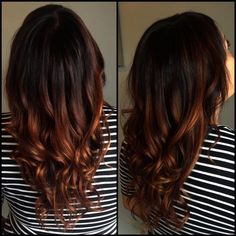 copper balayage & ombre'