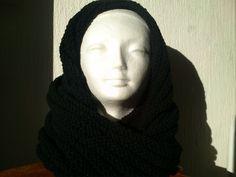 SNOOD,COL,TOUR DE COU TRICOTE A LA MAINS EN LAINE : Echarpe, foulard, cravate par creakriss