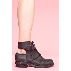 Jeffrey Campbell Rosie Cutout Combat Boot (€200) found on Polyvore