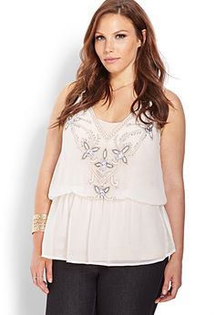 Beaded Traveler Tunic Cami | FOREVER 21 - 2000070226