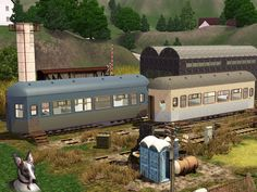 The perfect place for a sim down on their luck, an abandoned railway. This creative lot is by Cyclonesue for the Sims 3