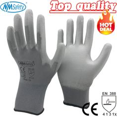 NMSafety 12 Pairs work gloves for PU palm coating safety glove Sale Only For US $7.94 on the link