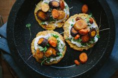 Chickpea Pancakes with Smoky Roasted Carrots // The Year in Food