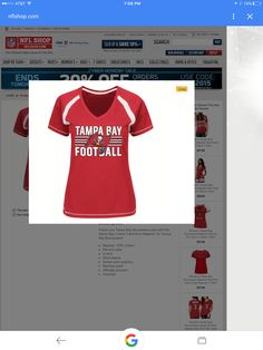 Another Bucs shirt example. Large. ;)
