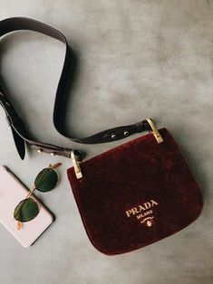 55b6faa5e5 Talking about velvet bags made by luxury designers and my favorite brown velvet  Prada bag