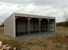 Pole Barn 12x40 Loafing Shed Material List Building Plans E File as PDF or Word | eBay