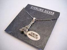 #NEW #EiffelTower #Marcasite & #925Silver #925Sterling #Sterling #Silver #925SterlingSilver #SterlingSilver #Necklace #NWT #Pendant #Frane #Paris
