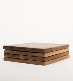 Walnut Wood Coasters, Set of 4 by Make & Stow on Scoutmob