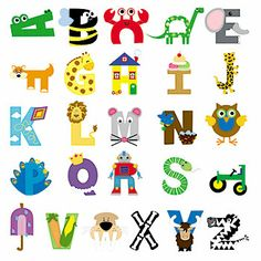 Teach the alphabet is through ABC Letter Crafts. These A to Z alphabet crafts create fun hands-on activities for preschool or kindergarten aged children. Animal Alphabet, Alphabet Letter Crafts, Abc Crafts, Preschool Letters, Toddler Crafts, Toddler Activities, Preschool Activities, Crafts For Kids, Animal Letters