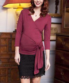 Beaujolais Maternity Wrap Top