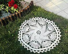 This beautiful romantic small rug is handmade, crochet. Handmade Rugs, Handmade Items, Shabby Chic Lamps, Beautiful Patterns, Girl Nursery, Small Rugs, Boho Style, Different Colors, Boho Fashion