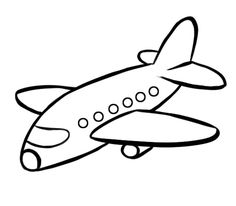 Avión de pasajeros: Dibujos para colorear Airplane Coloring Pages, Preschool Coloring Pages, Easy Coloring Pages, Coloring Books, Art Drawings For Kids, Drawing For Kids, Easy Drawings, Art For Kids, Diy Projects With Old Windows