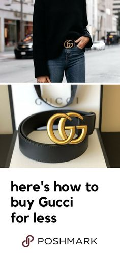 b766bdace940 Complete the look with a Gucci belt for a cheaper price on Poshmark.  Download the app to shop designer pieces.