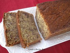 I cannot resist a big slice of Banana Bread, especially if it's moist and full of crunchy nuts. This is my Mother-in-laws delicious recipe....