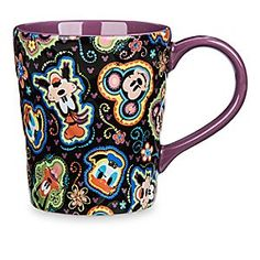 Mickey Mouse and Friends Mug | Disney Store Mickey, Minnie, and the gang put their heads together and come up with a colorful design for this mug. The raised quilt-like exterior adds an extra dimension that you can get to grips with.