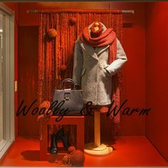 "SENECA, (Visual Merchandising College), Toronto, Canada, student project: ""Inspired by Fall/Autumn"", pinned by Ton van der Veer"