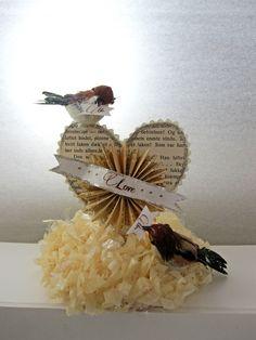 Anthropologie Inspired  Gorgeous Handmade Love Bird Wedding Cake Topper
