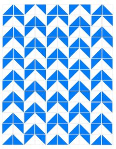 Nightingale Quilts: Free Pattern - Blue Arrow Quilt
