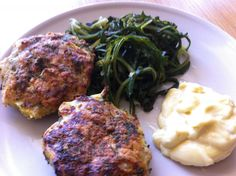 Haddock burgers with stamnagathi weeds and piquant mayonnaise