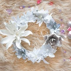 Floral Wreaths, Burlap Wreath, Christmas, Home Decor, Flower Crowns, Xmas, Decoration Home, Room Decor, Flower Wreaths