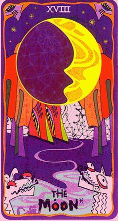 Barefoot Fool: 18. The Moon — Sakki-Sakki Tarot