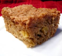 Low Fat Apple Crumb cake- supposedly tastes as good as the coffee cake at Starbucks with a fraction of the calories