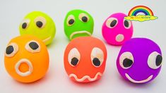Learn Colors with Play Doh Smiley Face