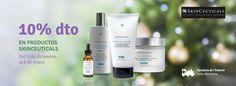 ¡ ¡ 10% dto. en toda la Gama Skinceuticals ! ! A partir del día 8 de Diciembre hasta el 7 de enero  Aprovecha esta exclusiva oferta Feliz día:)