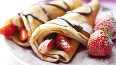 Nutella and Strawberry Crêpes