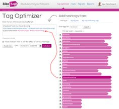Tag Optimizer - Want to get maximum exposure using the best hashtag for your post? THIS ROCKS!