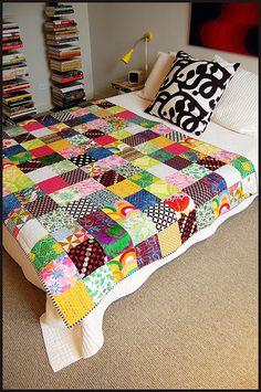 the super scrappy quilt! — bits and bobbins