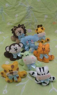 Cute felt animals.  Pattern