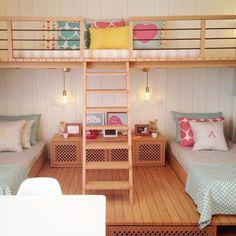Um quarto para duas irmães - nara maitre | design e estampas