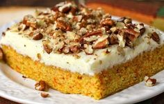 The Best Ever Simple Carrot Cake with Cheesecake Frosting. One Bowl, One Whisk, One incredible sheet cake! The cheesecake frosting really takes this old favorite over the top. This is one recipe to print and tuck in your file box. Cheesecake Frosting, Cheesecake Cookies, Cookie Desserts, Carrot Cheesecake, Oreo Poke Cakes, 18th Cake, The Slow Roasted Italian, Greek Sweets, Angel Food Cake