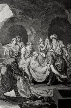 Christ's earthly ministry in the Phillip Medhurst Bible 473 of 550 The entombment Matthew 27:60 Picart on Flickr. A print from the Phillip Medhurst Collection at St. George's Court, Kidderminster.