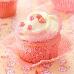Pink Velvet Cupcakes Recipe #cupcake #recipes