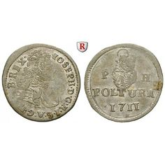 Römisch Deutsches Reich, Joseph I., Poltura 1711, ss+: Joseph I. 1705-1711. Kupfer-Poltura 1711 Kremnitz. für Ungarn. Herinek 278;… #coins