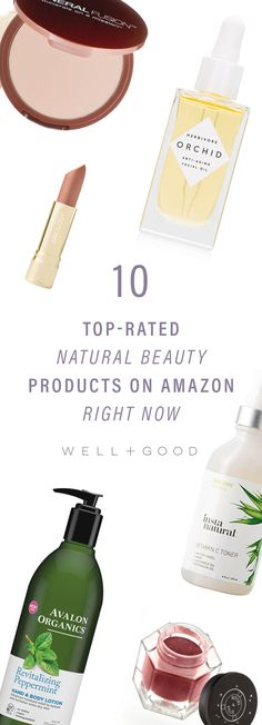 10 top rated natural beauty products on Amazon for Prime Day