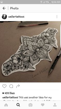 Lower back tattoo design!