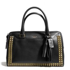 Coach :: New Legacy Haley Satchel In Studded Leather