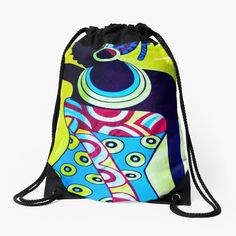 Backpack Bags, Drawstring Backpack, Iphone Wallet, Pouches, Woven Fabric, African, Backpacks, Queen